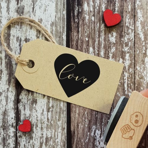 ****NEW FOR 2021**** Love Heart Rubber Stamp