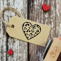 ****NEW FOR 2021**** Leopard Print Heart Rubber Stamp