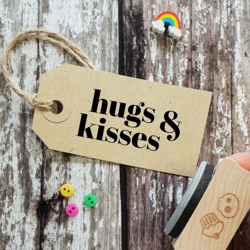 ****NEW FOR 2021**** Hugs & Kisses Contemporary Rubber Stamp