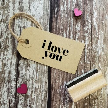 ****NEW FOR 2021**** I Love You Contemporary Rubber Stamp