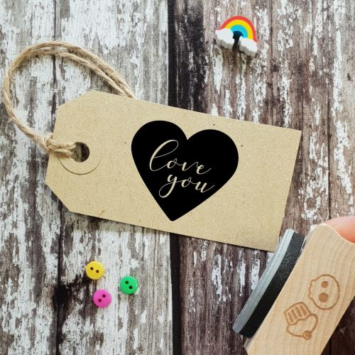 ****NEW FOR 2021**** Love You Heart Rubber Stamp