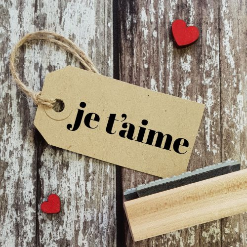 ****NEW FOR 2021**** Je t'aime Contemporary Rubber Stamp