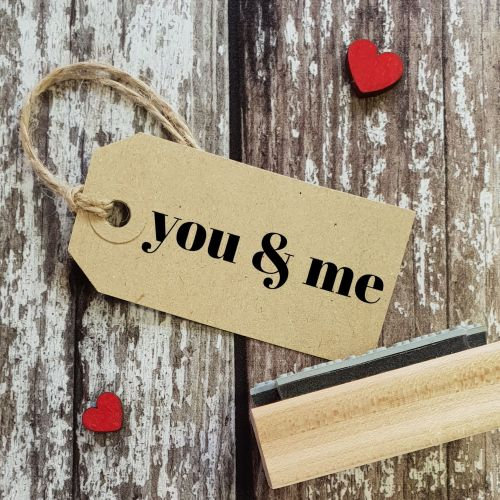 ****NEW FOR 2021**** You & Me Contemporary Rubber Stamp