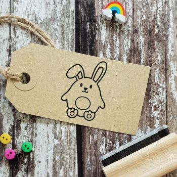 ****NEW FOR 2021**** Happy Easter Bunny Rubber Stamp