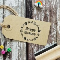 ****NEW FOR 2021**** Happy Easter Wreath Rubber Stamp