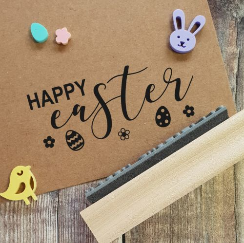 ****NEW FOR 2021**** Happy Easter Detail Rubber Stamp