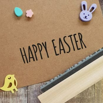 ****NEW FOR 2021**** Happy Easter Skinny Font Rubber Stamp