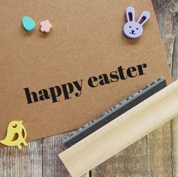 ****NEW FOR 2021**** Happy Easter Contemporary Font Rubber Stamp