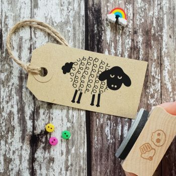 ****NEW FOR 2021**** Spring Sheep Easter Rubber Stamp