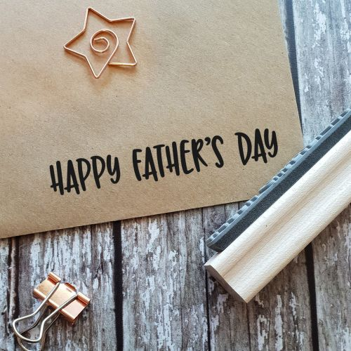 Happy Father's Day Quirky Rubber Stamp