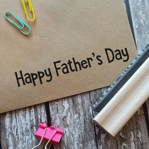 ****NEW FOR 2021**** Happy Father's Day Funky Rubber Stamp