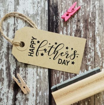 ****NEW FOR 2021**** Happy Father's Day Detail Rubber Stamp