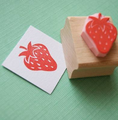Little Strawberry Hand Carved Rubber Stamp