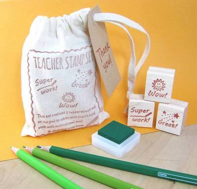 Teacher Rubber Stamp Set