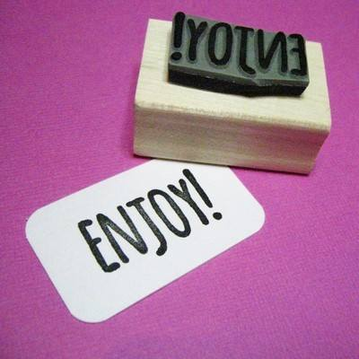 Enjoy! Rubber Stamp