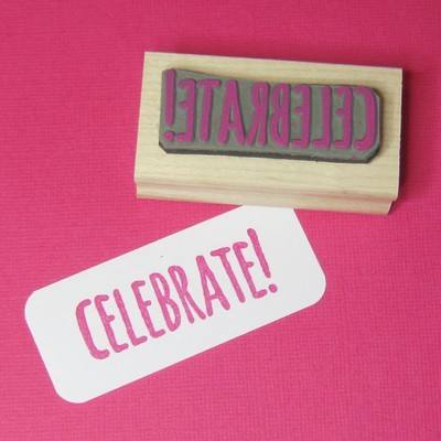 Celebrate Rubber Stamp