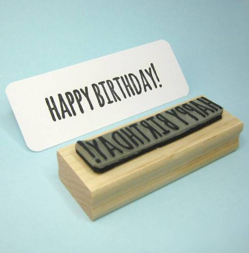 Happy Birthday! Rubber Stamp