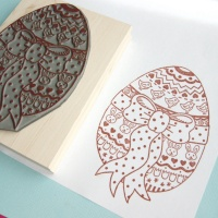Large Decorated Easter Egg Rubber Stamp