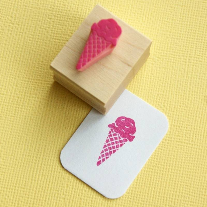 delicious ice cream stamp