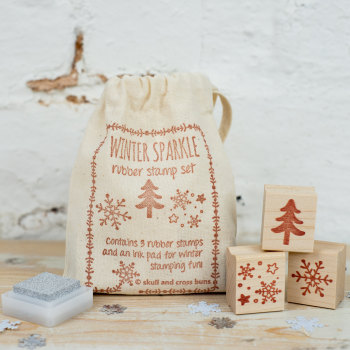 Winter Sparkle Rubber Stamp Set