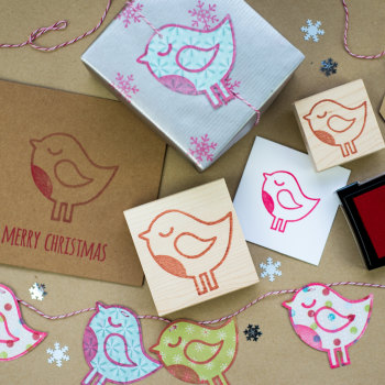 Winter Robin Rubber Stamp