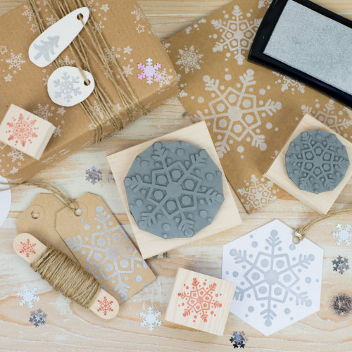 Dotty Snowflake Rubber Stamp