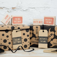 Naughty Messages Gift Tag Rubber Stamps