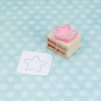 Star Outline Rubber Stamp