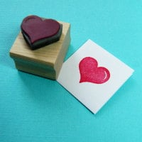 Classic Heart Rubber Stamp