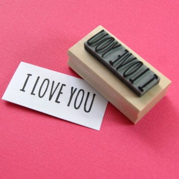 I Love You Rubber Stamp