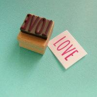 Skinny Love Rubber Stamp