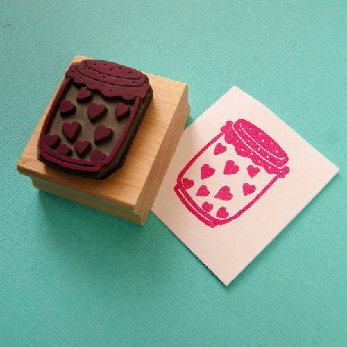 Jar of Hearts Rubber Stamp