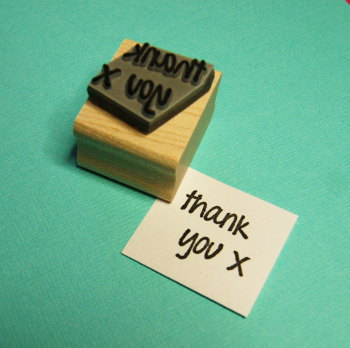 Mini Thank You Rubber Stamp