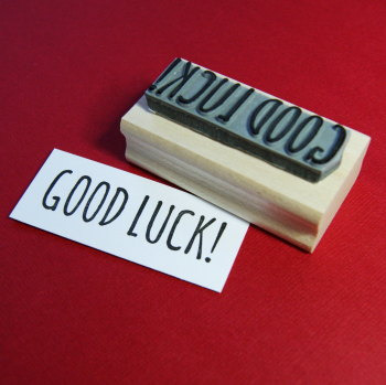 Good Luck Rubber Stamp 50% OFF!