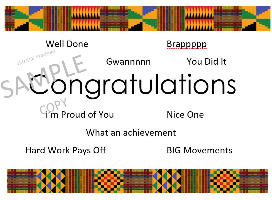 Thank you / Congratulations