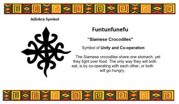 Adinkra Symbol - Funtunfunefu