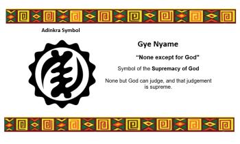 Adinkra Symbol - GYE NYAME 2