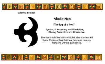 Adinkra Symbol - Akoko Nan