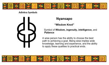 Adinkra Symbol - Nyansapo