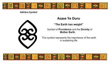 Adinkra Symbol - Asase Ye Duru