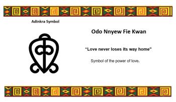 Adinkra Symbol - Odo Nnyew Fie Kwan