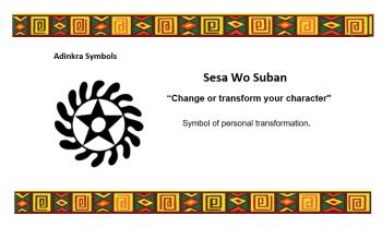Adinkra Symbol - Sesa Wo Suban