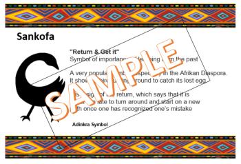 Adinkra Symbol - Sankofa 2
