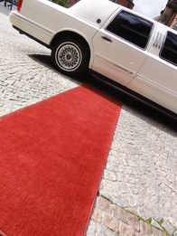 Red carpet on arrival