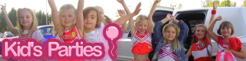 Childrens limo parties Northwich