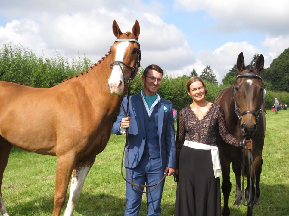 claire and shaun trot up