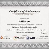 Diploma in Magnetic Therapy Healing - Nikki Pepper