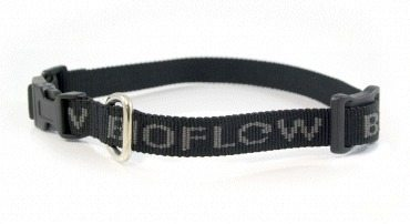 black dog collar