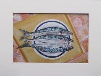 Mounted print of Mackerel II