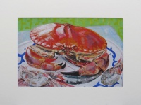 Mounted print of 'Crab and Shrimp III'